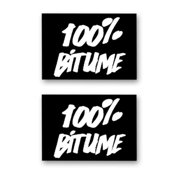 Kit Autocollants Moto 100% Bitume Lot 2 Stickers 100% Bitume 14 x 11 White