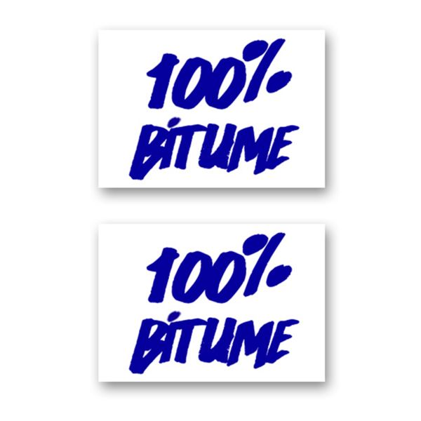 Kit Autocollants Moto 100% Bitume Lot 2 Stickers 100% Bitume 14 x 11 Blue