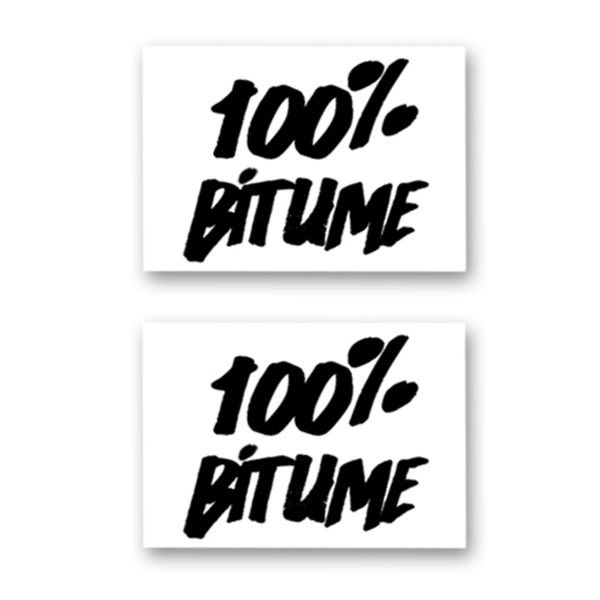 Kit Autocollants Moto 100% Bitume Lot 2 Stickers 100% Bitume 14 x 11 Black