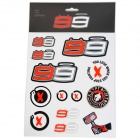 Kit Autocollants Moto Jorge Lorenzo Stickers Big Lorenzo Multicolor