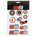 Kit Autocollants Moto Jorge Lorenzo Stickers Small Lorenzo Multicolor