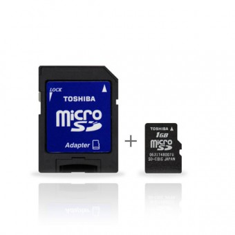 Camera embarquee TOSHIBA Carte Memoire Micro SD + Adaptateur SD