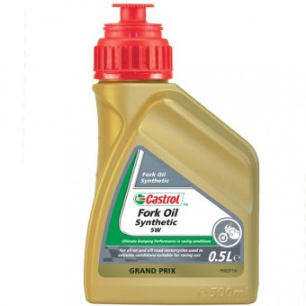 Huile de fourche Castrol Synthetic Fork Oil 5W 500 ml