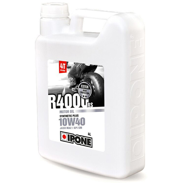 Huile moteur IPONE R4000 RS - 10W40 Synthetic Plus - 4 Litres 4T