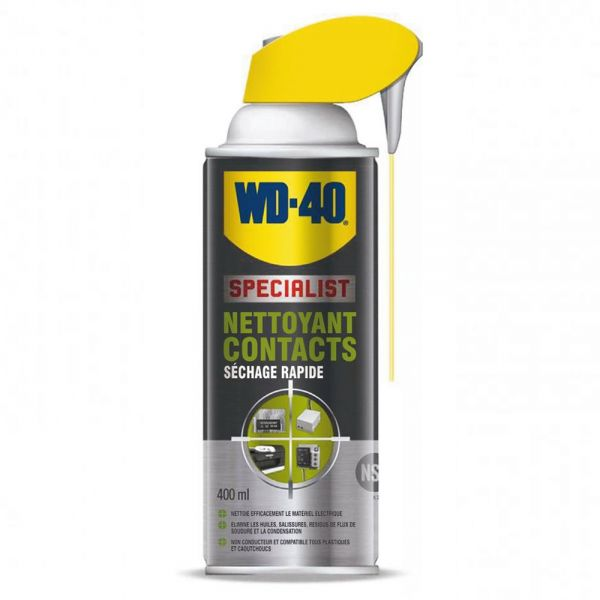 produit d 39 entretien wd 40 spray nettoyant contact 400 ml en stock. Black Bedroom Furniture Sets. Home Design Ideas