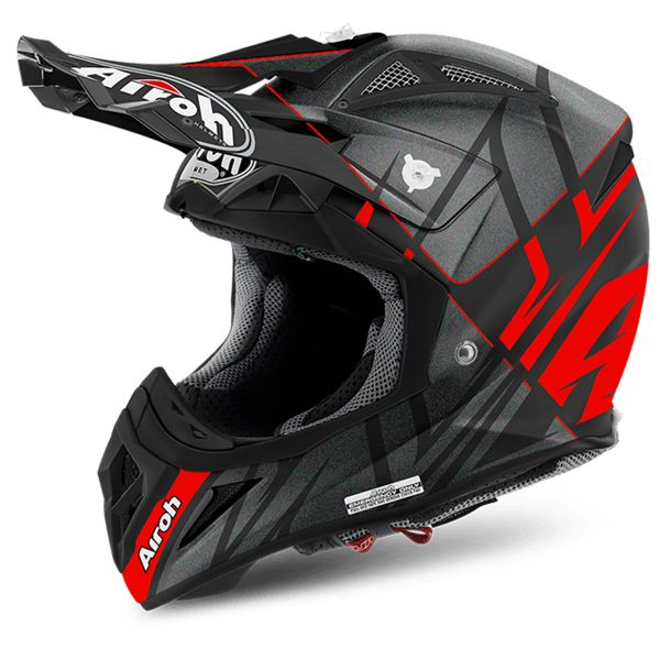 Casque Cross Airoh Aviator 2.2 Warning Red