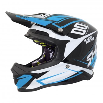 Casque Cross SHOT Furious Alert Black Blue