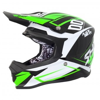 Casque Cross SHOT Furious Alert Black Green