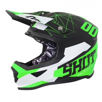 Casque Cross SHOT Furious Spectre Black Green Matt