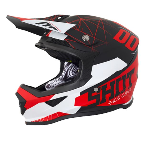 Casque Cross SHOT Furious Spectre Black Red Matt