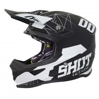 Casque Cross SHOT Furious Spectre Black White Matt