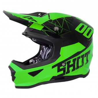 Casque Cross SHOT Furious Spectre Neon Green