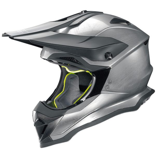 Casque Cross Nolan N53 Smart Scratched Chrome 16