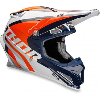Casque Cross Thor Sector Ricochet Navy Orange