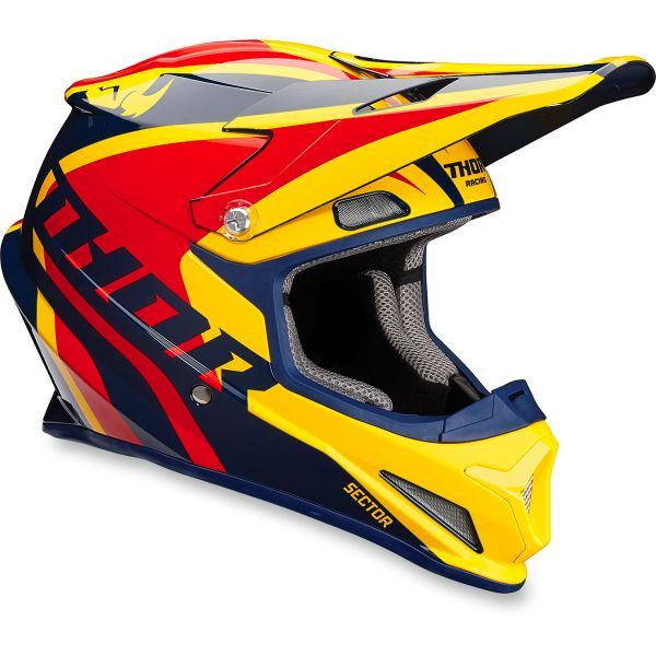 Casque Cross Thor Sector Ricochet Navy Yellow