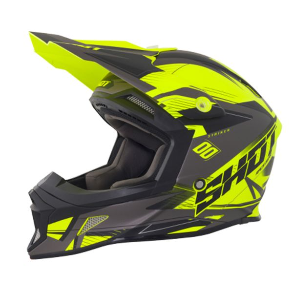 Casque Cross SHOT Striker Side Neon Yellow