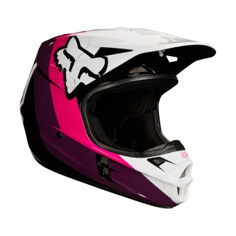 Casque Cross FOX V1 Halyn Black Pink