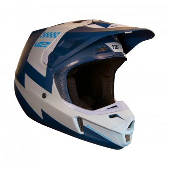 Casque Cross FOX V2 Mastar Navy