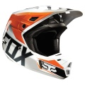 Casque Cross FOX V2 Race Orange Noir