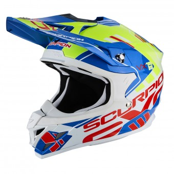 Casque Cross Scorpion VX-15 Air Argo Blue Neon Yellow