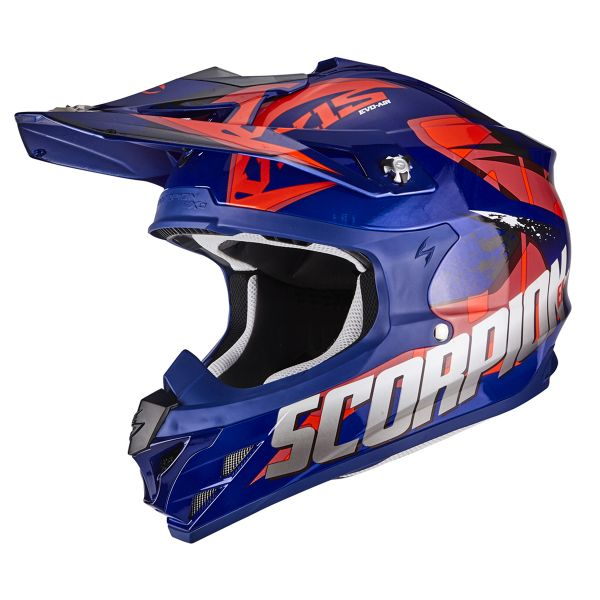 Casque Cross Scorpion VX-15 Air Defender Blue Red