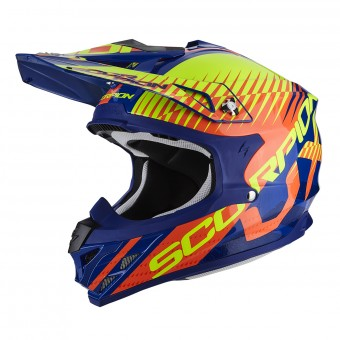 Casque Cross Scorpion VX-15 Air Sin Blue Orange