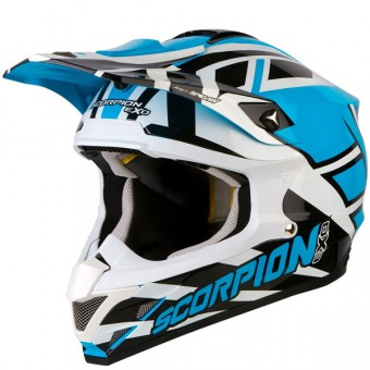 Casque Cross Scorpion VX-15 Air Unadilla Bleu Blanc Noir