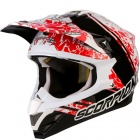 Casque Cross Scorpion VX-15 Air Wrap Noir Rouge Blanc