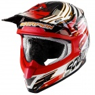 Casque Cross Scorpion VX-20 Air Startrooper Noir Blanc Rouge