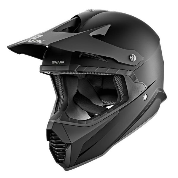 Casque Cross Shark Varial Blank Mat KMA