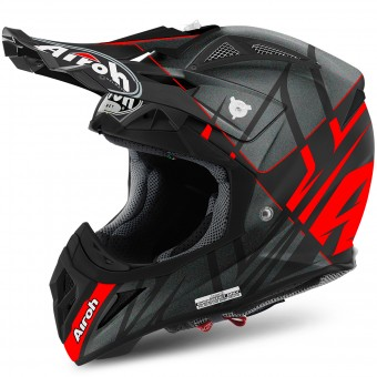 Casque Cross Airoh Aviator 2.2 Styling Red Matt