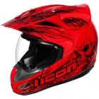 Casque Cross ICON Variant Etched Red