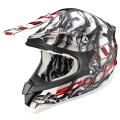 Casque moto Scorpion VX-15 Air Oil Blanc Rouge
