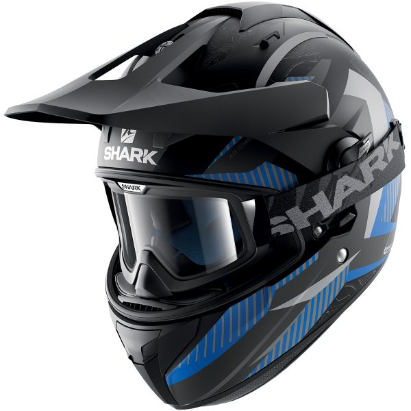 Casque Cross Shark Explore-R Peka Mat KBA
