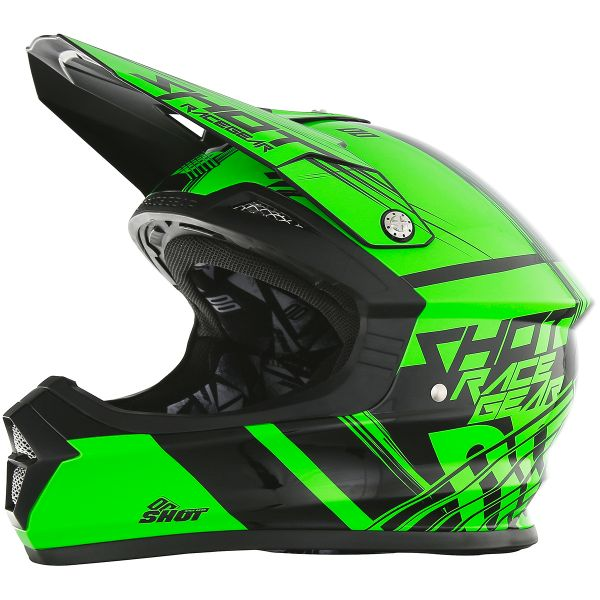 Casque Cross SHOT Furious Claw Neon Green
