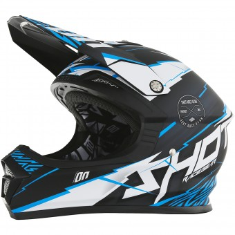 Casque Cross SHOT Furious Infinity Blue Matt