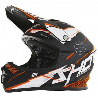 Casque Cross SHOT Furious Infinity Orange Matt