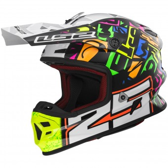 Casque Cross LS2 Light Evo Punch White Black MX456