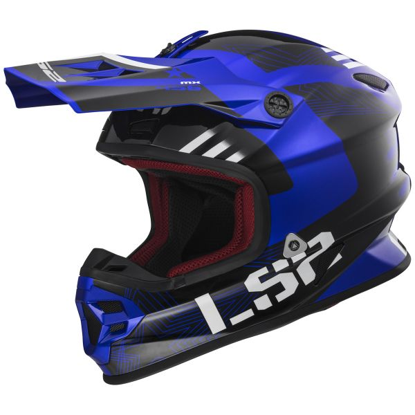 Casque Cross LS2 Light Evo Rallie Blue Black MX456