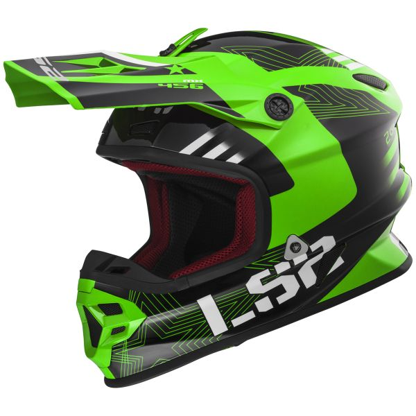 Casque Cross LS2 Light Evo Rallie Green Black MX456