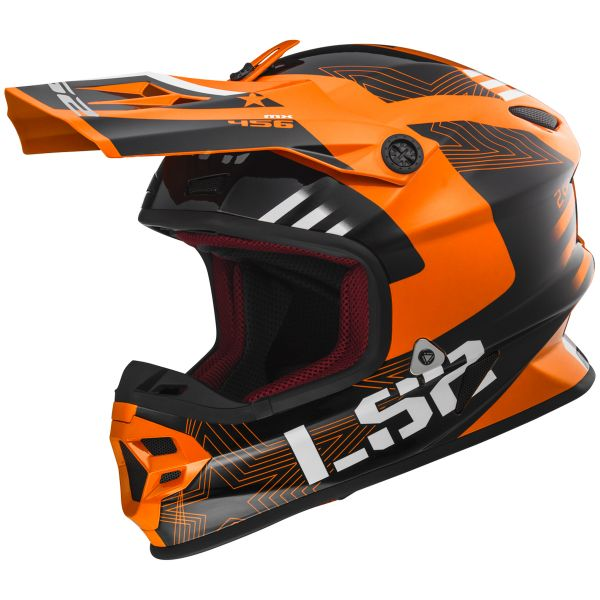 Casque Cross LS2 Light Evo Rallie Orange Black MX456