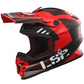 Casque Cross LS2 Light Evo Rallie Red Black MX456