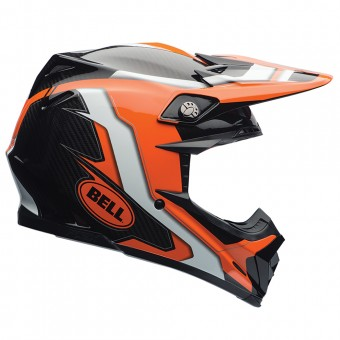 Casque Cross Bell Moto-9 Carbon Flex Factory Orange Black