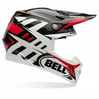 Casque Cross Bell Moto-9 Carbon Flex Syndrome Red