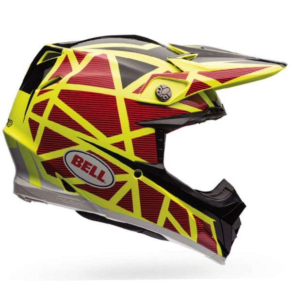 Casque Cross Bell Moto-9 Flex Carbon Strapped Yellow