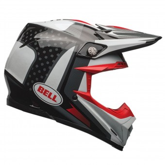 Casque Cross Bell Moto-9 Flex Carbon Vice Black White