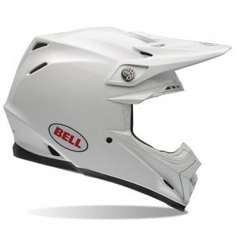 Casque Cross Bell Moto-9 Solid White