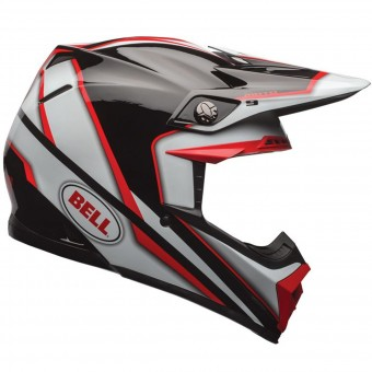 Casque Cross Bell Moto-9 Spark Red Black