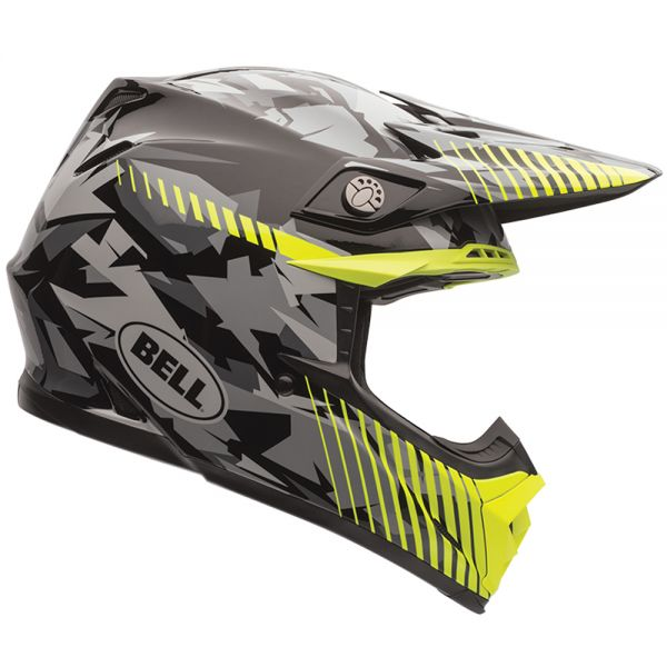 Casque Cross Bell Moto-9 Yellow Camo