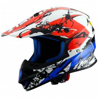 Casque Cross Astone MX 600 Giant Blue White Red